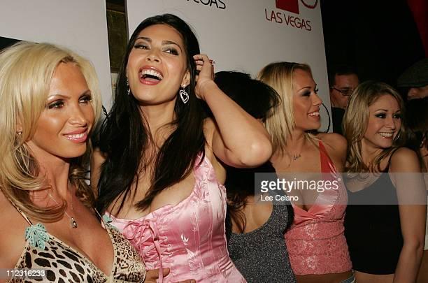 Nikki Benz Tera Patrick and TeraVision models during Tera Patrick's 1st Annual Diva Las Vegas Party at TAO at Tao in Las Vegas Nevada United States