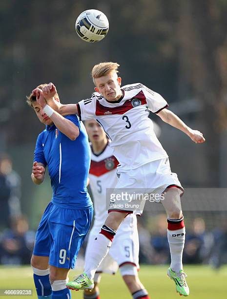 Nikki Beste of Germany in action during the international friendly match between U16 Italy and U16 Germany on March 18 2015 in Recanati Italy