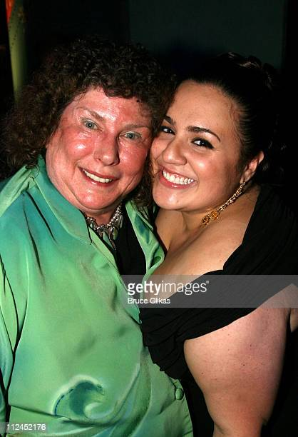 Nikki Blonsky and her Aunt during the after party for the New York City premiere of 'Hairspray' at Roseland Ballroom on July 16 2007 in New York City