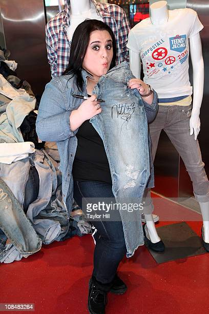 Nikki Blonsky attends DoSomethingorg's 4th Annual Teens for Jeans initiative event at Aeropostale Times Square on January 28 2011 in New York City