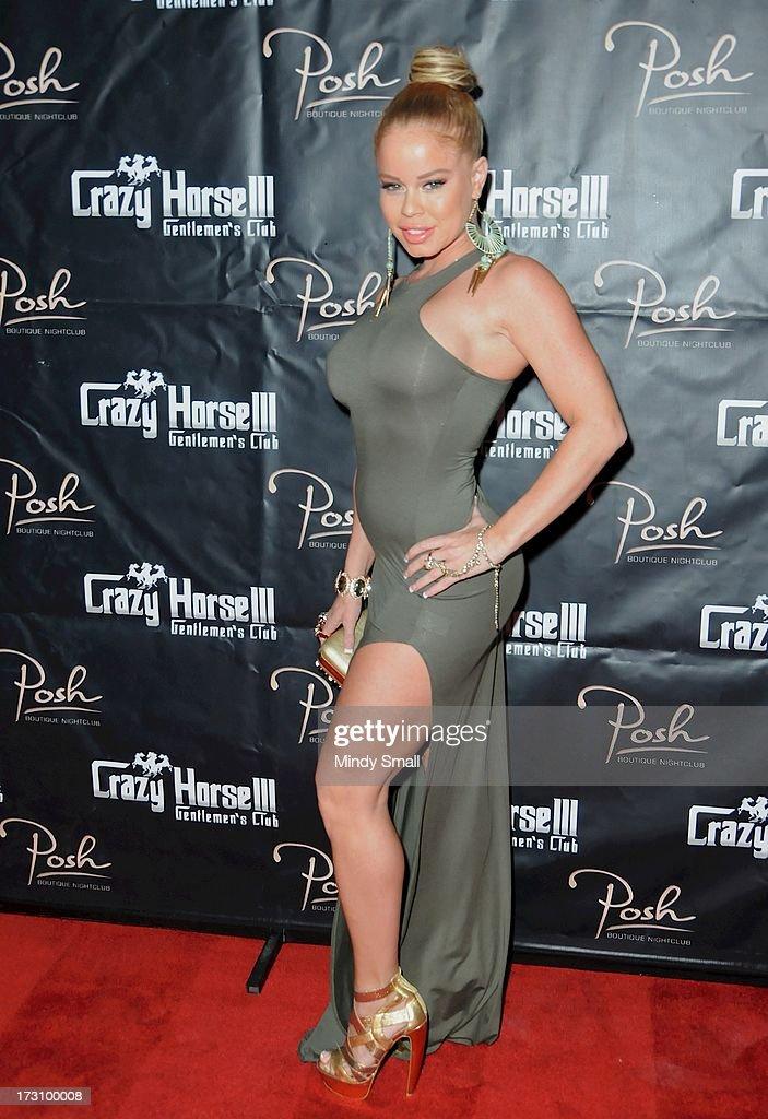 Nikki Delano arrives at the Crazy Horse III Gentleman's Club on July 6, 2013 in Las Vegas, Nevada.