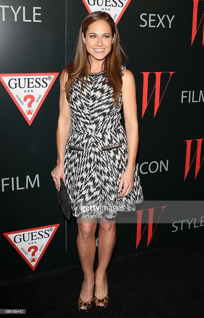 Nikki Deloach attends the W Magazine & Guess Host 30 Years of Fashion & Film Next Generation of Style Party at Laurel Hardware on January 8, 2013 in West Hollywood, California.