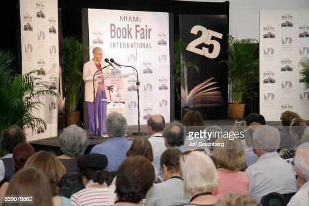 Nikki Giovanni on stage at Miami Book Fair International