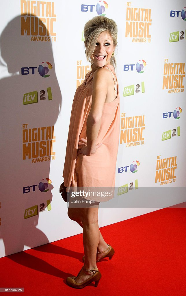 Nikki Grahame At The Bt Digital Music Awards 2010 At The Roundhouse In London.