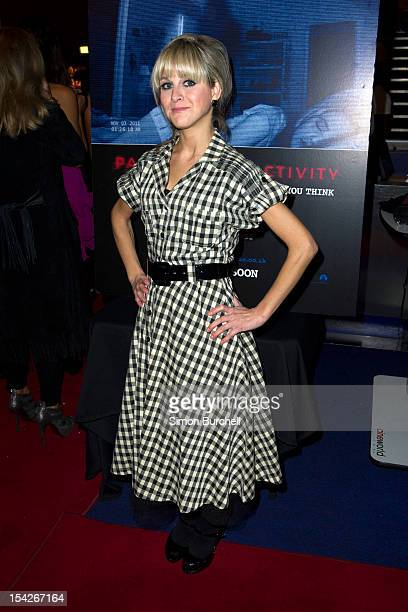 Nikki Grahame attends a screening of 'Paranormal Activity 4' at Cineworld Haymarket on October 16 2012 in London England