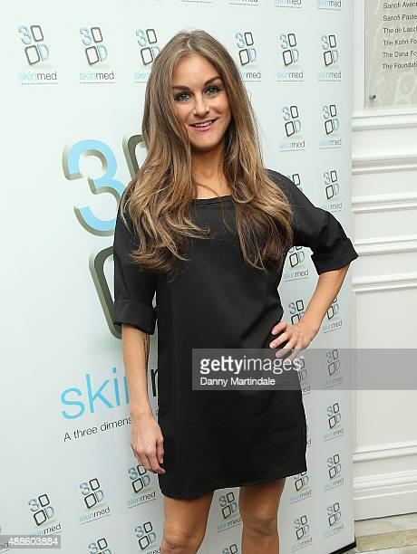 Nikki Grahame attends the 3DSkinmed press event at Academy of Medical Sciences on September 16 2015 in London England