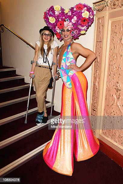 Nikki Grahame attends the launch of 'Priscilla Parties' at Palace Theatre on January 24 2011 in London England