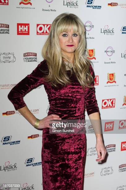 Nikki Grahame attends the OK Magazine Christmas Party at Sway on November 27 2012 in London England