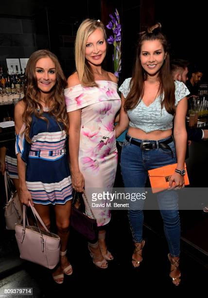 Nikki Grahame Caprice Bourret and Imogen Thomas attend Paul Strank Charitable Trust's Summer Party at Mint Leaf on July 5 2017 in London England