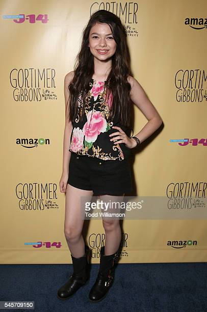 Nikki Hahn attends a 'Gortimer Gibbon's Life On Normal Street's' celebration by Amazon and J14 at Racer's Edge Indoor Karting on July 8 2016 in...