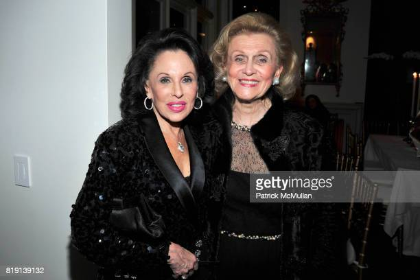 Nikki Haskell and Barbara Davis attend ALEX HITZ Party at Private Residence on March 6 2010 in Hollywood California