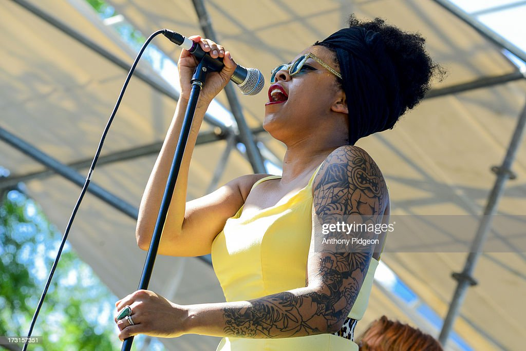 Nikki Hill performs on stage on Day 4 of Waterfront Blues Festival at Tom McCall Waterfront Park on July 7, 2013 in Portland, Oregon.
