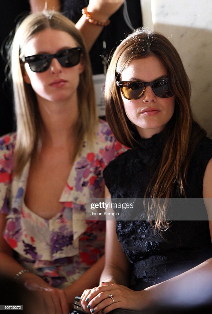 Nikki Hilton and Rachel Bilson attend Jill Stuart Spring 2010 fashion show at The New York Public Library on September 14, 2009 in New York, New York.