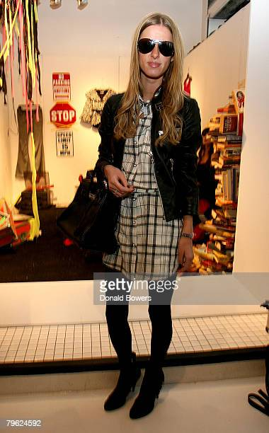 Nikki Hilton visits the Alice Olivia Fall 2008 Collection during MercedesBenz Fashion Week Fall 2008 on February 7 2008 in New York City