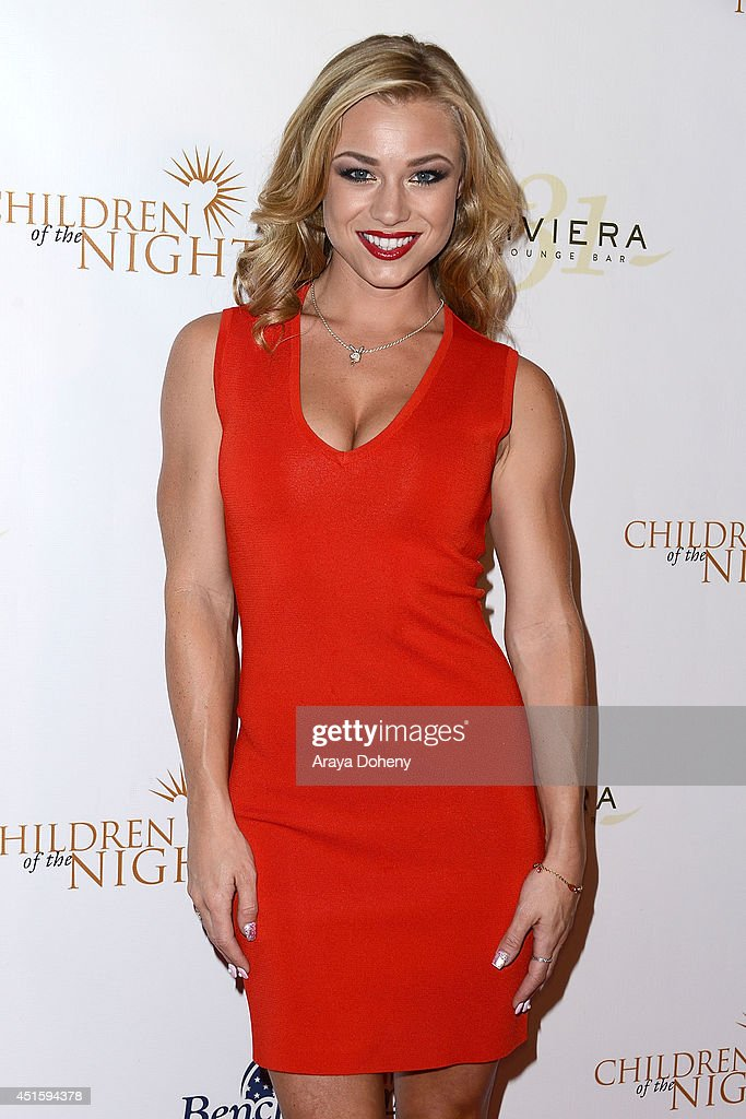 Nikki Leigh attends the Children of The Night and BenchWarmer's annual Stars & Stripes event on July 1, 2014 in Los Angeles, California.