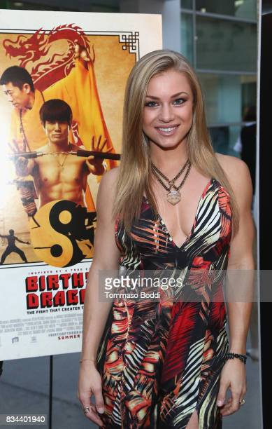 Nikki Leigh attends the Premiere Of WWE Studios' 'Birth Of The Dragon' at ArcLight Hollywood on August 17 2017 in Hollywood California
