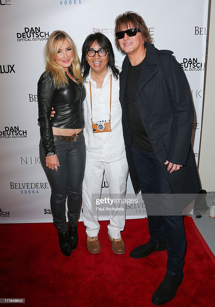 Nikki Lund, Stephen Kamifuji and Richie Sambora attend the Genlux Magazine summer issue release party at the Luxe Rodeo Drive Hotel on June 28, 2013 in Beverly Hills, California.