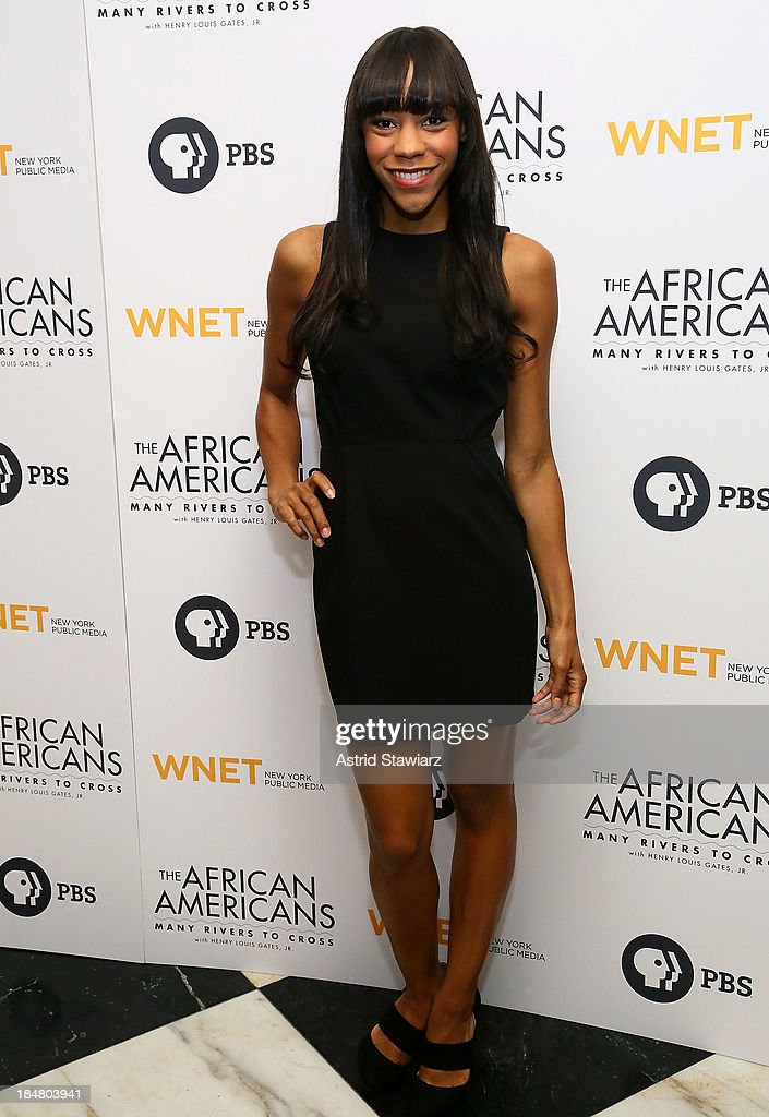 <a gi-track='captionPersonalityLinkClicked' href=/galleries/search?phrase=Nikki+M.+James&family=editorial&specificpeople=7591203 ng-click='$event.stopPropagation()'>Nikki M. James</a> attends 'The African Americans: Many Rivers to Cross' New York Series Premiere at the Paris Theater on October 16, 2013 in New York City.