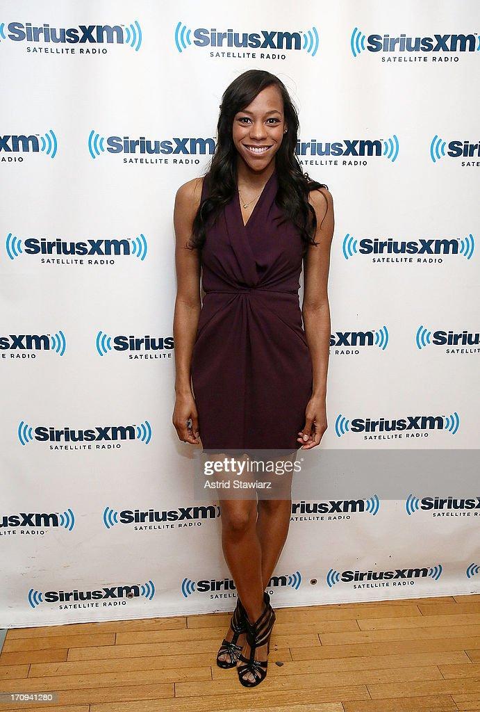 Nikki M. James visits the SiriusXM Studios on June 20, 2013 in New York City.