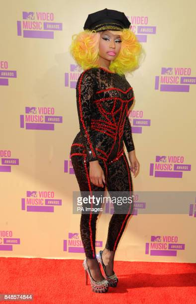 Nikki Minaj arriving at the MTV Video Music Awards at the Staples Centre Los Angeles