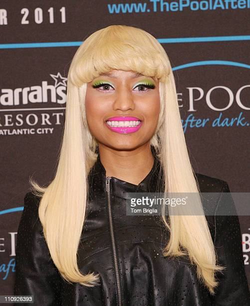 Nikki Minaj visits The Pool After Dark at Harrah's Resort on Saturday March 26 2011 in Atlantic City New Jersey
