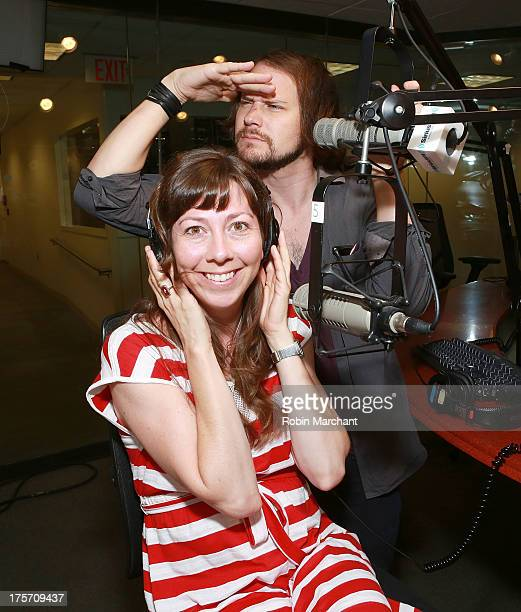 Nikki Monninger and Brian Aubert of Silversun Pickups moderate SiriusXM's'Alt Nation Ping Pong Throwdown' Featuring Silversun Pickups Live on Alt...