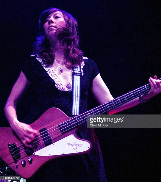 Nikki Monninger of Silversun Pickups during Silversun Pickups In Concert March 21 2007 at The Arena at Gwinnett in Duluth Georgia United States