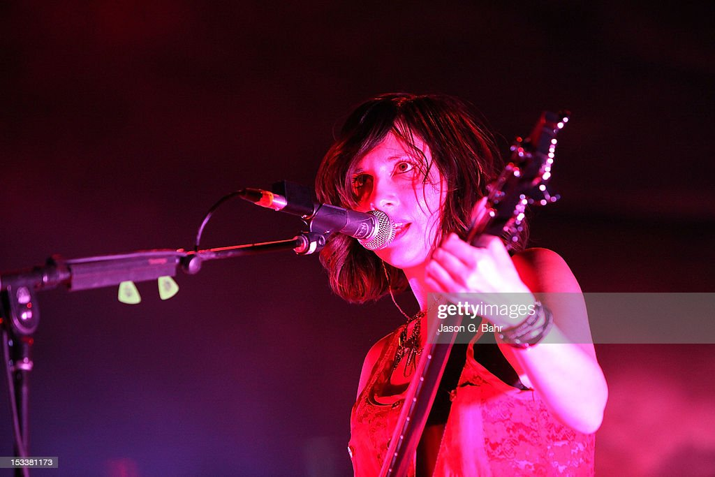 <a gi-track='captionPersonalityLinkClicked' href=/galleries/search?phrase=Nikki+Monninger&family=editorial&specificpeople=4174767 ng-click='$event.stopPropagation()'>Nikki Monninger</a> of Silversun Pickups performs as part of 93.3's Big Gig at Red Rocks Amphitheatre on September 16, 2012 in Morrison, Colorado.