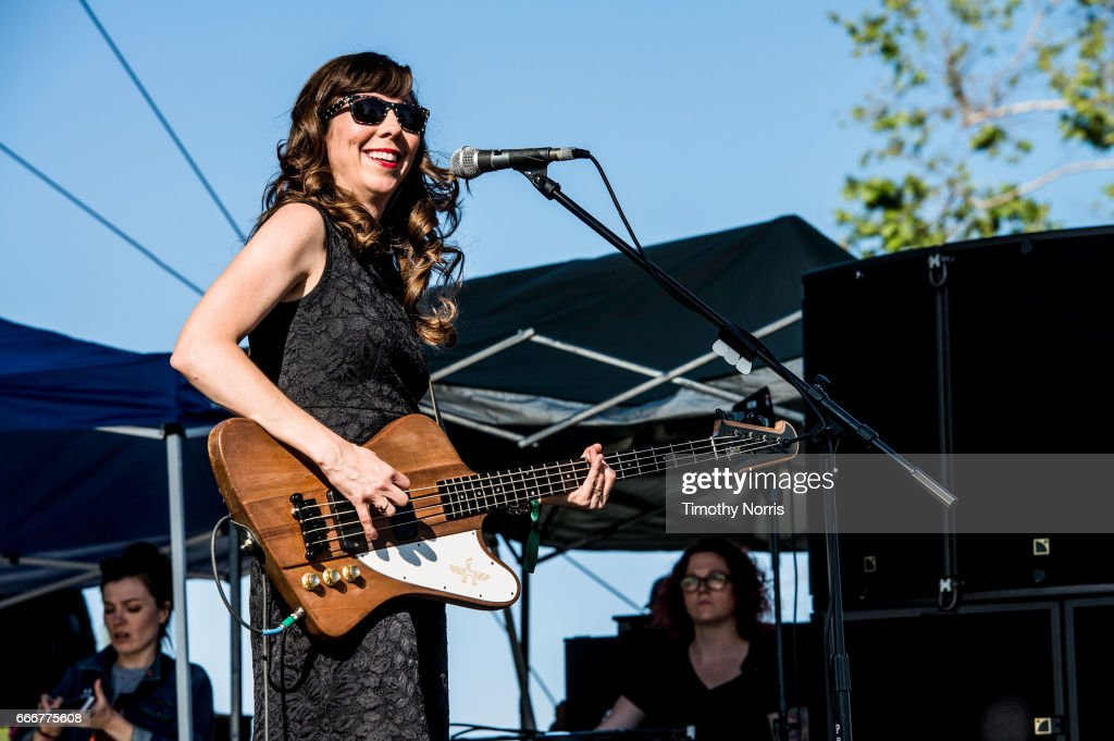 Nikki Monninger of Silversun Pickups performs during When We Were Young Festival 2017 at The Observatory on April 9, 2017 in Santa Ana, California.