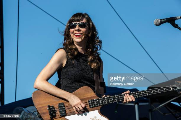 Nikki Monninger of the band Silversun Pickups performs during the When We Were Young Festival 2017 at The Observatory on April 8 2017 in Santa Ana...