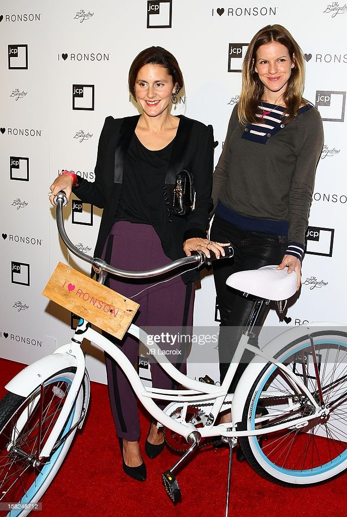 Nikki Penny and Kate Summer attend the Charlotte Ronson And Jcpenney I Heart Ronson Celebration With Music By Samantha Ronson at The Bungalow on December 11, 2012 in Santa Monica, California.