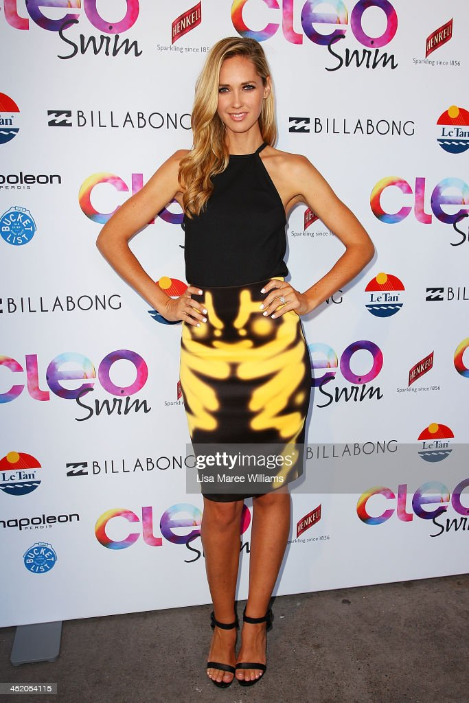 <a gi-track='captionPersonalityLinkClicked' href=/galleries/search?phrase=Nikki+Phillips&family=editorial&specificpeople=2253055 ng-click='$event.stopPropagation()'>Nikki Phillips</a> arrives at the 2013 CLEO Swim Party at The Bucket List on November 26, 2013 in Sydney, Australia.