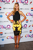 Nikki Phillips arrives at the 2013 CLEO Swim Party at The Bucket List on November 26 2013 in Sydney Australia
