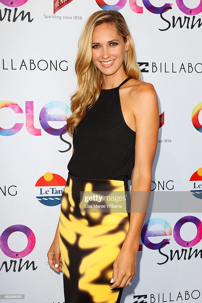Nikki Phillips arrives at the 2013 CLEO Swim Party at The Bucket List on November 26, 2013 in Sydney, Australia.