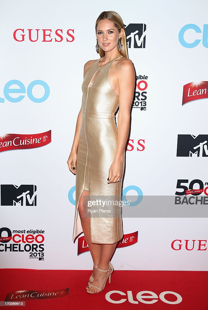 Nikki Phillips arrives at the CLEO Bachelor of the Year Awards on June 12, 2013 in Sydney, Australia.