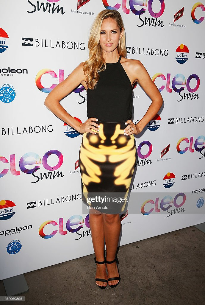 <a gi-track='captionPersonalityLinkClicked' href=/galleries/search?phrase=Nikki+Phillips&family=editorial&specificpeople=2253055 ng-click='$event.stopPropagation()'>Nikki Phillips</a> poses at the 2013 CLEO Swim Party at The Bucket List on November 26, 2013 in Sydney, Australia.