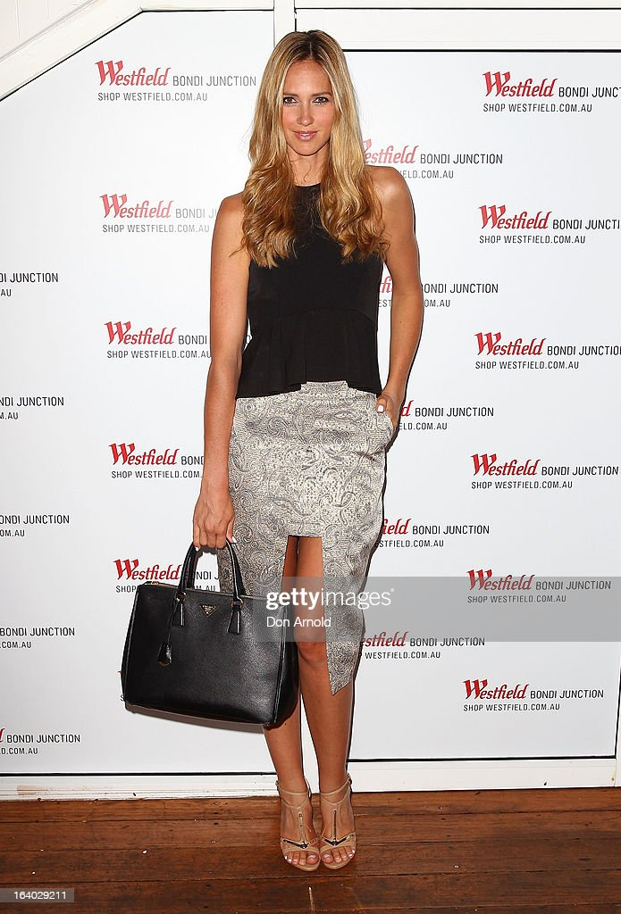 Nikki Phillips poses at the Westfield Autumn/Winter 2013 launch at Pelicano Bar on March 19, 2013 in Sydney, Australia.