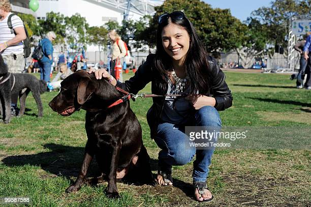 Nikki Phillips Rose Kelly Lyndsey Rodrigues attends the RSPCA Million Paws Walk at Sydney Olympic Park on May 16 2010 in Sydney Australia