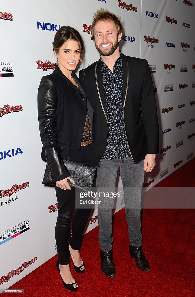 Nikki Reed (L) and husband musician Paul McDonald (R) arrive at Rolling Stone Magazine Official 2012 American Music Awards VIP After Party presented by Nokia and Rdio at Rolling Stone Restaurant And Lounge on November 18, 2012 in Los Angeles, California.