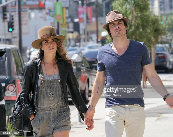 Nikki Reed and Ian Somerhalder are seen in Hollywood on September 07 2014 in Los Angeles California