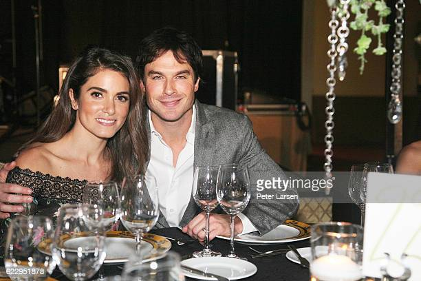 Nikki Reed and Ian Somerhalder attend the Unlikely Heroes 4th Annual Recognizing Heroes Charity Benefit at The RitzCarlton Dallas on November 12 2016...