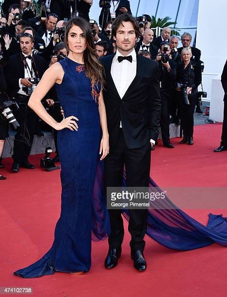 Nikki Reed and Ian Sonerhalder attends the 'Youth' Premiere during the 68th annual Cannes Film Festival on May 20 2015 in Cannes France