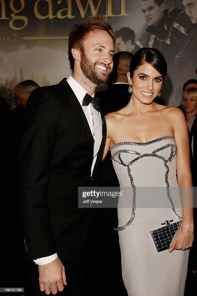 Nikki Reed (R) and Paul McDonald arrive at 'The Twilight Saga: Breaking Dawn - Part 2' Los Angeles premiere at Nokia Theatre L.A. Live on November 12, 2012 in Los Angeles, California.