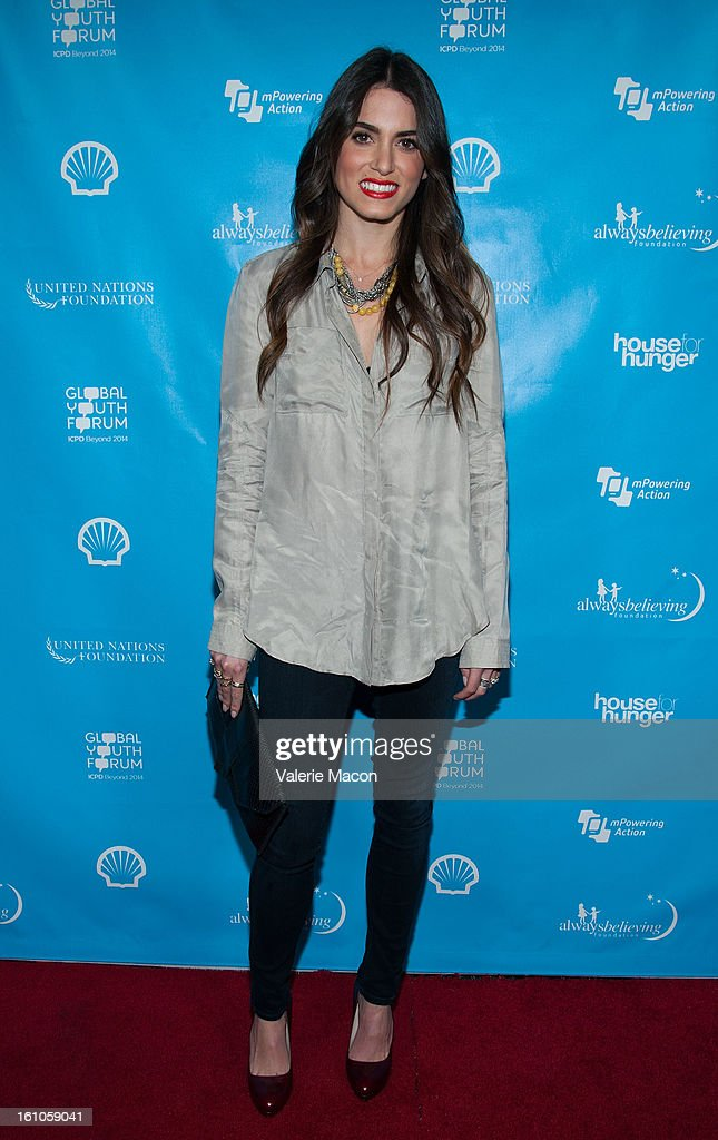 Nikki Reed arrives at the mPowering ActionPre-GRAMMY Launch Event at The Conga Room at L.A. Live on February 8, 2013 in Los Angeles, California.