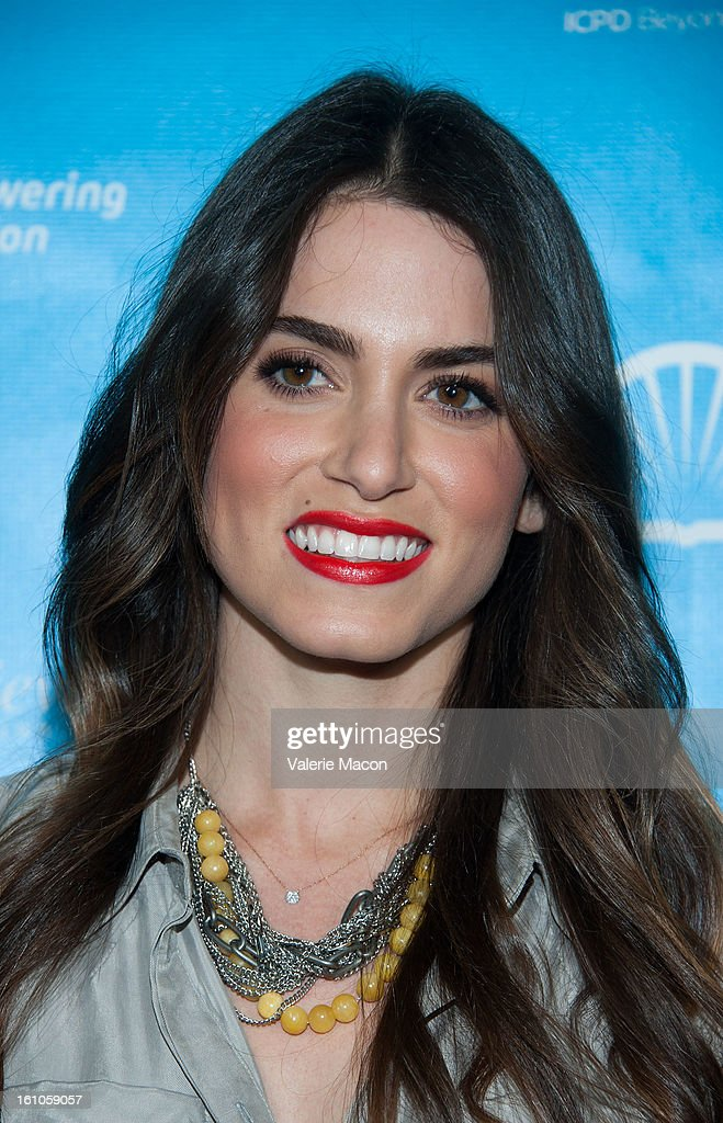 <a gi-track='captionPersonalityLinkClicked' href=/galleries/search?phrase=Nikki+Reed&family=editorial&specificpeople=220844 ng-click='$event.stopPropagation()'>Nikki Reed</a> arrives at the mPowering ActionPre-GRAMMY Launch Event at The Conga Room at L.A. Live on February 8, 2013 in Los Angeles, California.