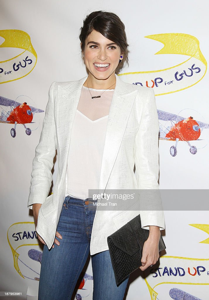 <a gi-track='captionPersonalityLinkClicked' href=/galleries/search?phrase=Nikki+Reed&family=editorial&specificpeople=220844 ng-click='$event.stopPropagation()'>Nikki Reed</a> arrives at the 'Stand Up For Gus' benefit event held at Bootsy Bellows on November 13, 2013 in West Hollywood, California.