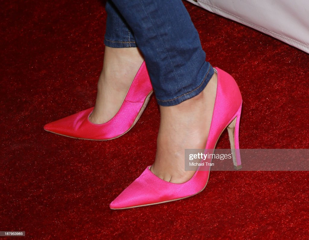 Nikki Reed (shoe detail) arrives at the 'Stand Up For Gus' benefit event held at Bootsy Bellows on November 13, 2013 in West Hollywood, California.