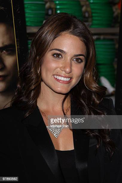 Nikki Reed attends 'The Twilight Saga New Moon' DVD release party held at Walmart on March 19 2010 in Santa Clarita California