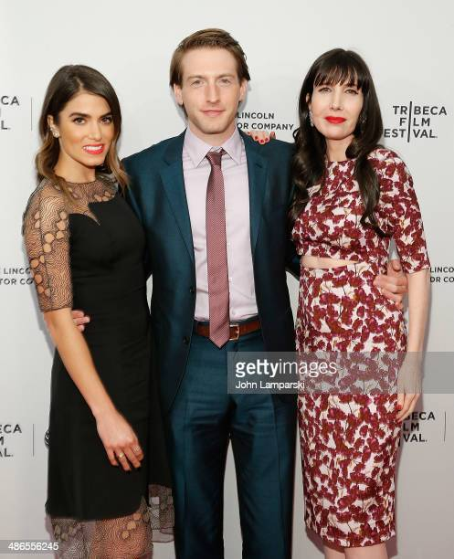 Nikki Reed Elliot Fran Kranz and Gillian Greene attend the premiere of 'Murder of a Cat' during the 2014 Tribeca Film Festival at SVA Theater on...