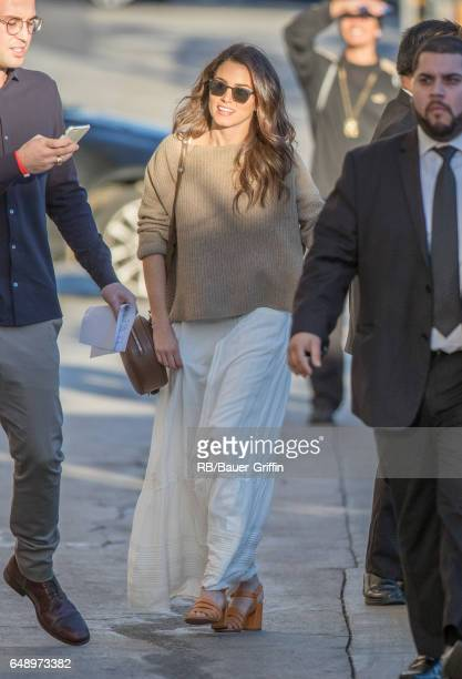 Nikki Reed is seen at 'Jimmy Kimmel Live' on March 06 2017 in Los Angeles California
